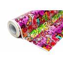 Lesklá graffiti polepová fólie 152x3000cm - interiér/exteriér