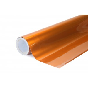Lesklá kovová oranžová polepová fólie 152x50cm - interiér/exteriér_1