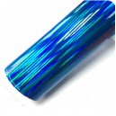 Duhová chromovaná modrá polepová fólie 142x100cm - interiér/exteriér_1